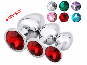 Butt Anal Plug USA STOCK Stainless Steel ROUND Butt Plug SAME DAY SHIPPING