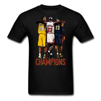 NBA Champions Shirt Kobe Bryant Michael Jordan Lebron James Basketball Tee