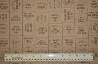 1/2 yard cotton quilt fabric Freedom United Kraft Moda State Nick Names America