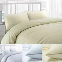 Deluxe Cottages Waffle Weave Checked 200 Thread Count 100%Cotton Duvet Cover Set