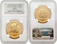 Mexico 1992 Native Culture - Jaguar $1000 1 oz Gold NGC MS-68