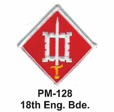 "3"" 18TH ENG. BDE. Embroidered Military Patch"