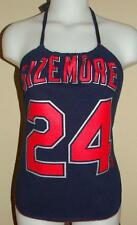 Womens Grady Sizemore Cleveland Indians Shirt Halter Top DiY