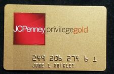 Jc Penney Privilege Gold credit card♡free ship♡cc1250♡
