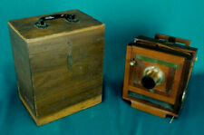 1885 4x5 Scovill View Camera Waterbury Lens Original Wood Case