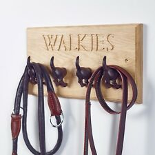 Walkies Oak DOG'S Lead Hook-Doggie Regalo-Nuovo cucciolo regalo-fatto a mano nel Kent