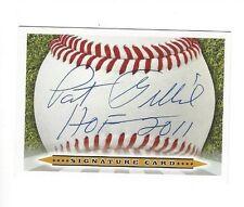 PAT GILLICK Signature card Auto HOF Philadelphia Phillies Toronto Blue Jays