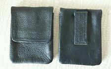 US Made BLACK Real Leather Cell Phone Case Pouch Heavy Duty Belt LOOP