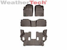 WeatherTech Floor Mats FloorLiner for QX56/QX80/Armada- 1st/2nd/3rd Row - Cocoa