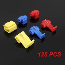 125 PCS ALL SIZES Quick Splice Tap Wire Connectors 12-10 16-14 22-18 Gauge US