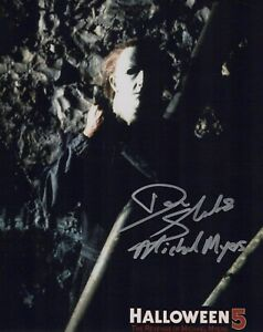 Halloween 5 movie 8x10 photo signed by actor Don Shanks