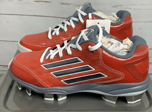 NWT Adidas Womens PowerAlley 2 TPU W Red Softball Cleats Shoes 6.5 $65