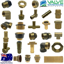 BRASS THREADED & BARBED FITTINGS - BSP - WIDE RANGE OF SIZES- FLAT RATE SHIPPING