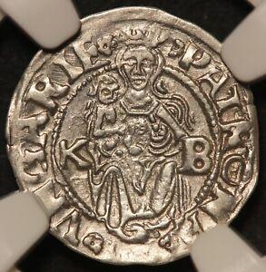 1545-KB Hungary 1 One Denar Coin - NGC AU 58