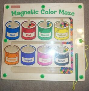 "Lakeshore Magnetic Pen Color Maze Learning Sorting Wood & Acrylic Board 14""x13"""