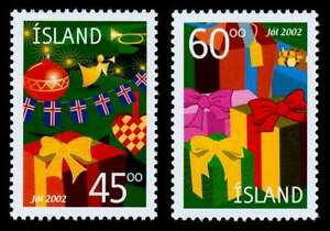 Iceland 2002 Christmas, Decorations & Wrapped Presents. MNH / UNM