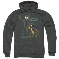 Gumby & Pokey OUTLINES Licensed Adult Sweatshirt Hoodie