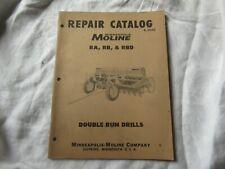 Minneapolis Moline Ra Rb Rbd Double Run Drills Parts Manual Catalog Book