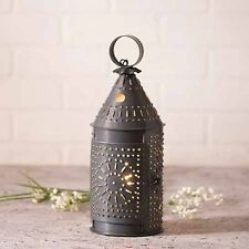"12"" Decorative Punched Tin Revere Lantern in Blackened Tin by Irvins Tinware"