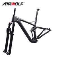 29er full suspension carbon mtb bike frame/aluminium alloy fork/carbon seatpost