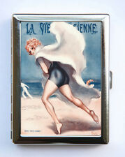 Cigarette Case id case Wallet  Art Deco Beach La Vie Parisienne Flapper