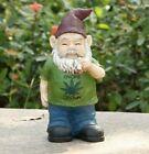 Gnome Grown Male Smoking Weed Figurine - Life Like Figurine Statue Home / Garden