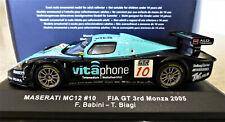 1/43 IXO Maserati MC12 #10 FIA GT Monza 2005. Mint and boxed. GTM041.