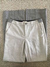 Anthropologie Elevenses NWT Women's Ombre Flare Trousers Pants Size 8