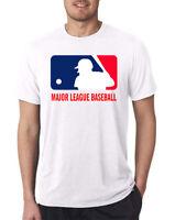 MLB Major League Baseball USA Logo sport  Tour 2020 Men's T-Shirt S- 5XL White
