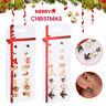 8 Pairs Christmas Tree Snowman Deer Bell Ear Stud Earrings Xmas Jewelry Gift-WI