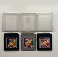 Gameboy Pacman, Ms. Pacman Color & Pacman Special Color Edition Lot TESTED!