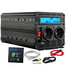 reiner Sinus Spannungswandler 12v 230v 1500 3000 watt Wechselrichter LCD anzeige