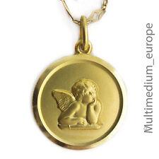 Jugendstil Raphael Engel Anhänger 333er mattiertes Gold 8ct angel gold pendant