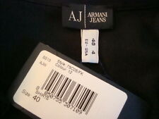NWT ARMANI JEANS Icon Hidden Button Long Sleeve Button Down Shirt Sz 4