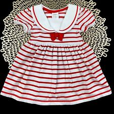 Infant Baby Girl Size 3-6 Months H&M Spring Summer Dress Outfit Set Red & White
