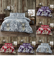 Flannelette (Laura Stag) Duvet Quilt Cover Pillow Case Quilt Cover Bedding Set