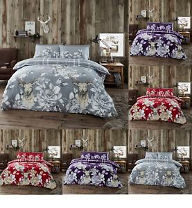 Flannelette (Laura Stag) Duvet Quilt Cover Pillow Case Quilt Cover Bedding Set