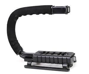 C U Shaped Bracket Video Handle Camera Stabilizer Grip -Fits DSLR Camera & Light