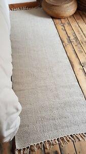 Rustic 100% Cotton Natural shade reversible 70x200cm natural fibres runner