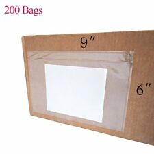 200 6''x''9 Clear Envelope Pouches Slip Plastic Adhesive Shipping Label Packing