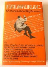Tomorrow Inc. - Sci Fi Short stories 1977 HARDBACK BOOK Isaac Asimov, A C Clarke