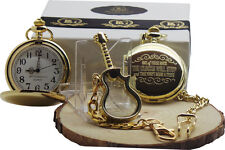 Foo Fighters Pocket Watch These Days Lyrics and Glass Guitar Keyring Gift Case