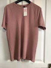 New Men's T Shirt Cotton Round Neck Plain Print  Casual Top size M