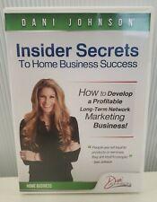Dani Johnson Insider Secrets To Home Business Success 2 Cd Set