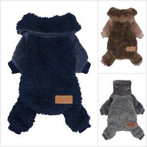 Fitwarm Fuzzy Thermal Turtleneck Dog Clothes Winter Outfits Pet Coat Jumpsuits