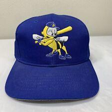 Vintage Burlington Bees Hat New Era Snapback Cap Minor League Pro Baseball 90s