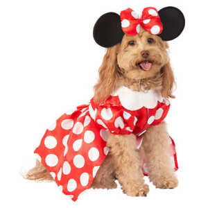 Disney Minnie Mouse Dog Pet Costume Dress and Ears Headband with bow Size Medium