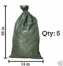 Sandbaggy 5 Green Empty Sandbags For Sale 14x26 Sandbag Sand Bags Bag Poly