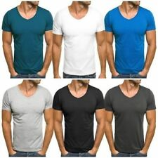Cotton Blend V Neck Fitted T-Shirts for Men
