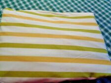 Vintage Cannon Monticello Full Fitted Sheet  Olive/Gold Stripes    Pre Owned
